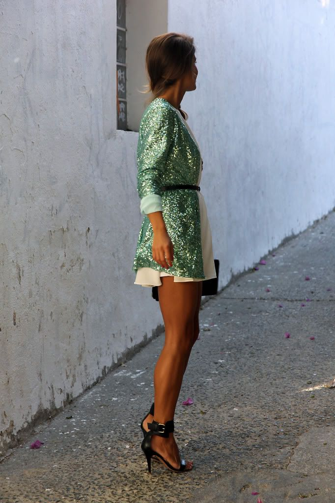 seams for a desire mint sequins jacket