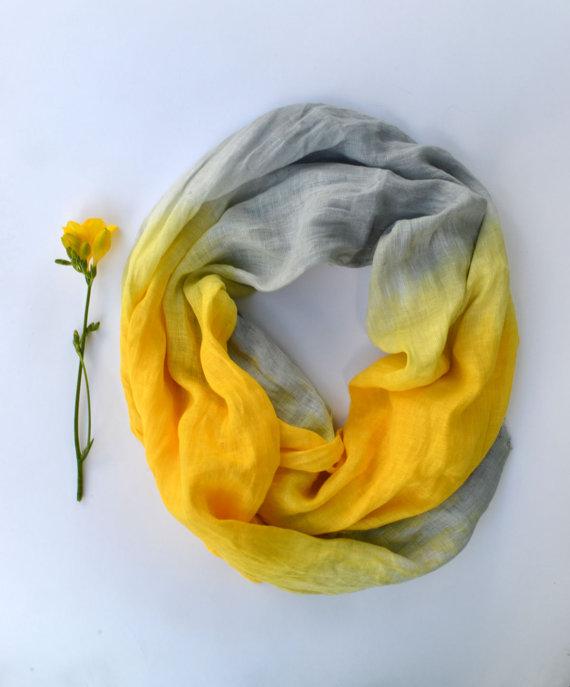 linen scarf lyralyra etsy