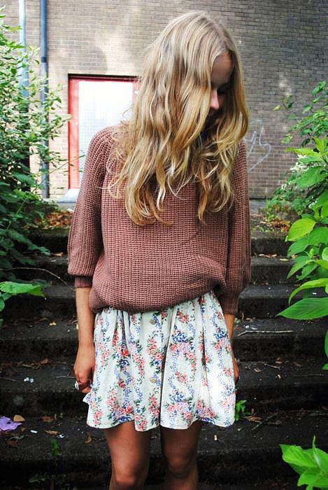 sweater on dress