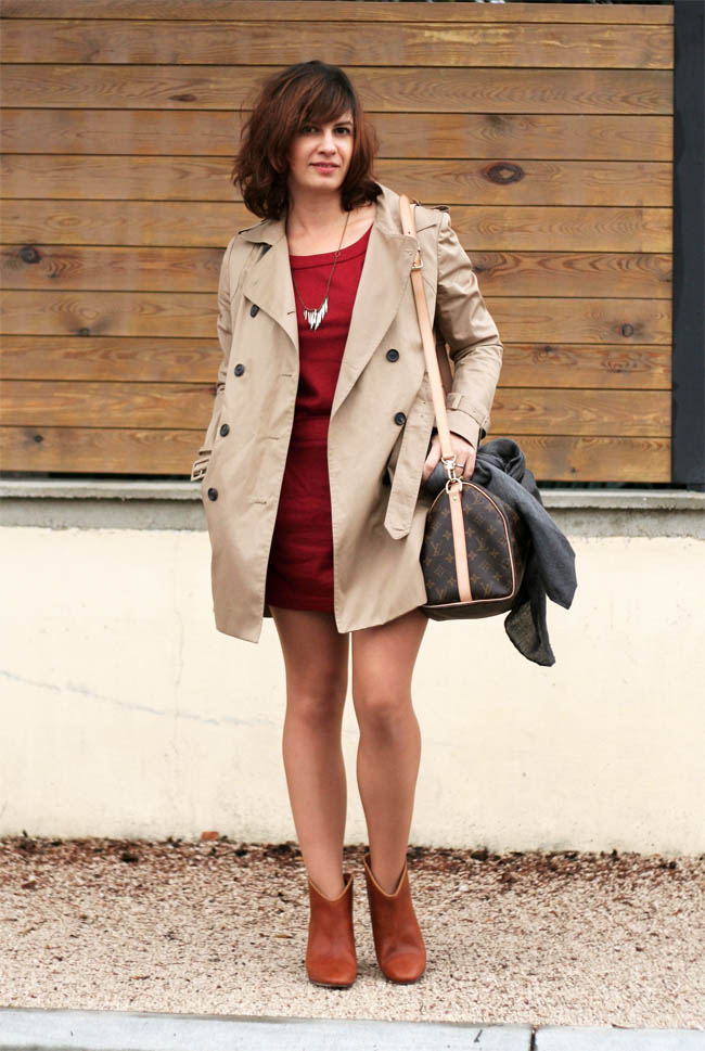 trench sur robe the beauty and the geek 2