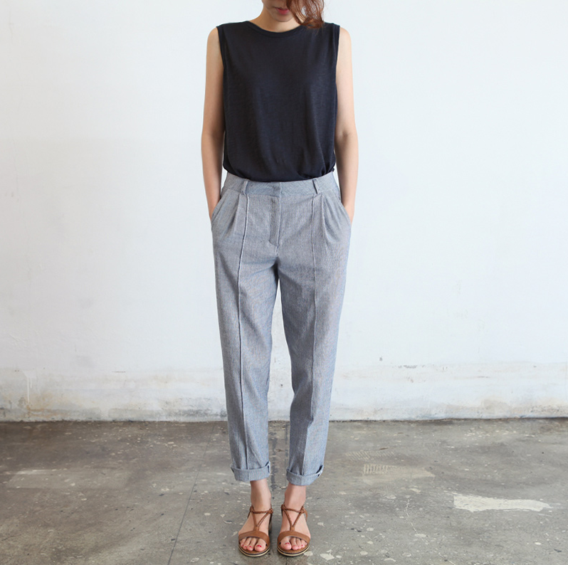 Simple Briggs Womenu0026#39;s Straight Leg Dress Pants - Herringbone