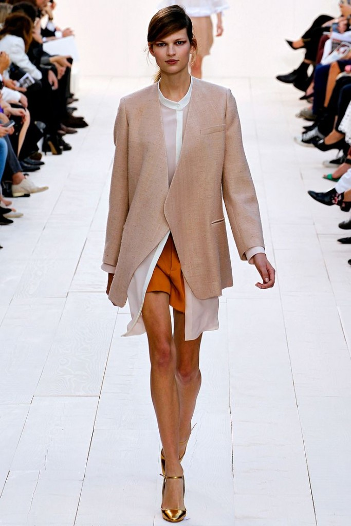 Rust beige and white Chloe spring 2013