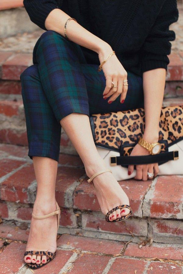 tartan and leopard
