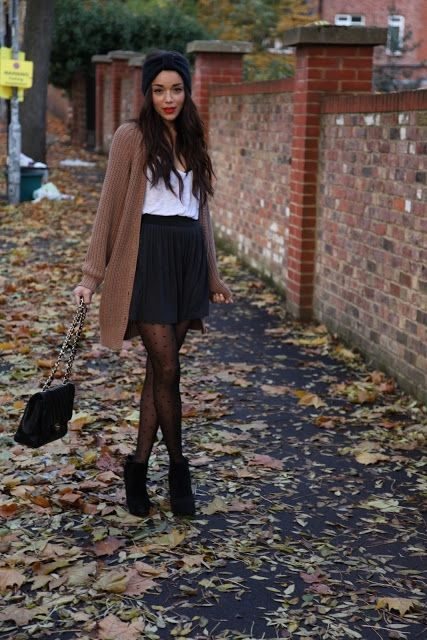 Cardigan and skirt