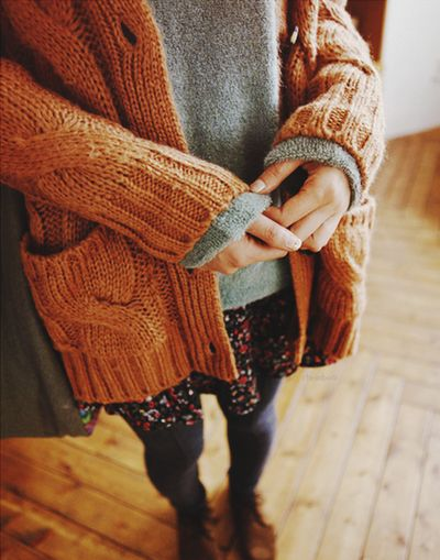 layer sweater with cardigan