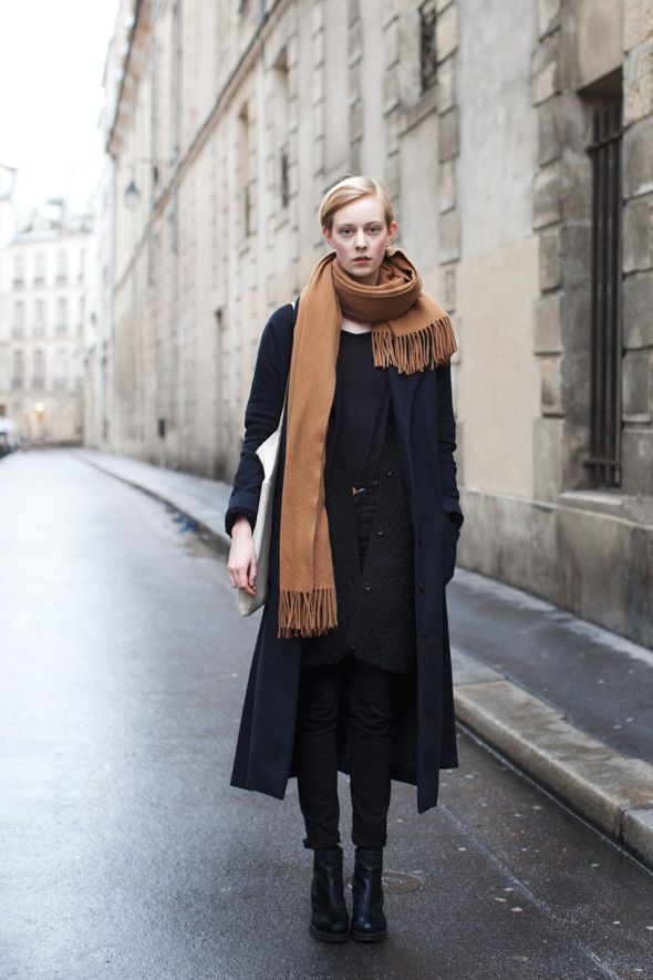 the sartorialist black coat