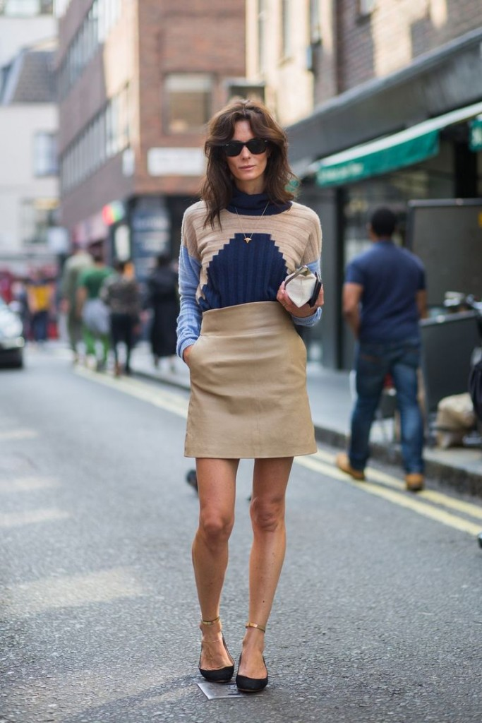 Match top with skirt and hints of gold