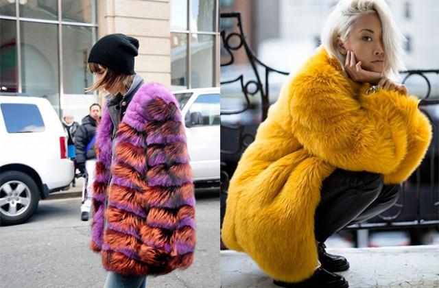 Comment porter le manteau de (fausse) fourrure?