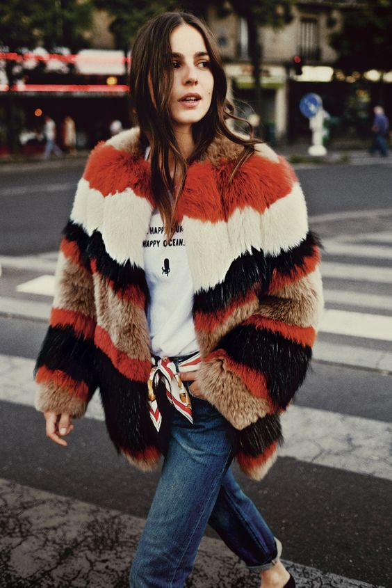 jean with fur