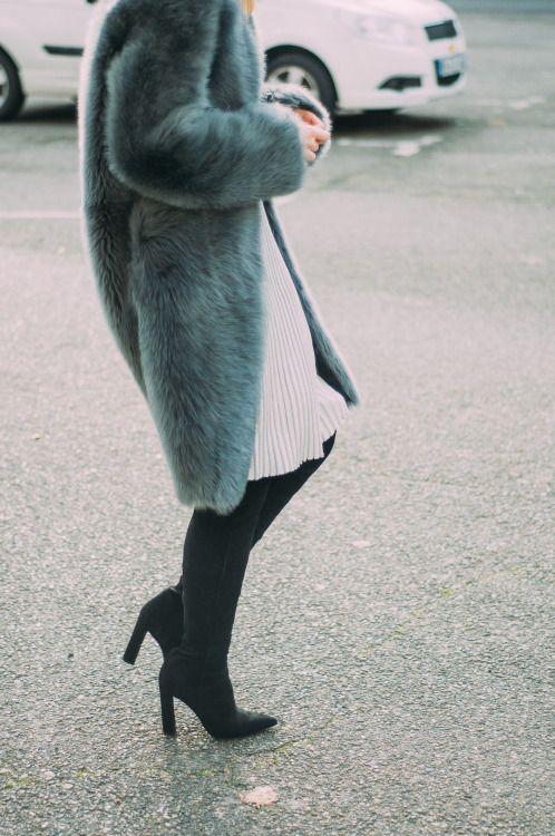 long faux fur