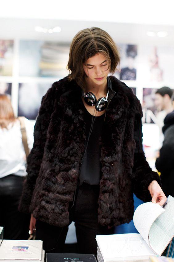 minimalist vintage fur