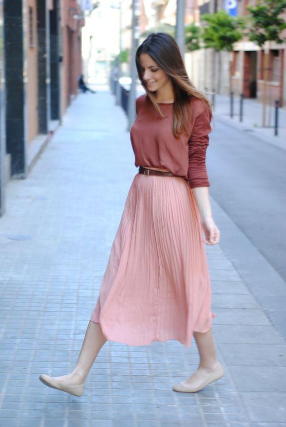 ballet flats long skirt