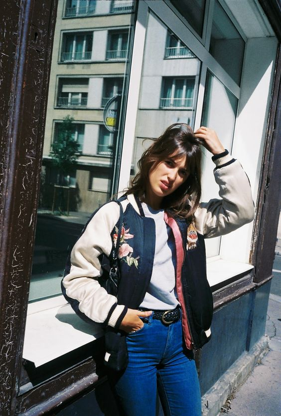 eccentric jacket on simple outfit