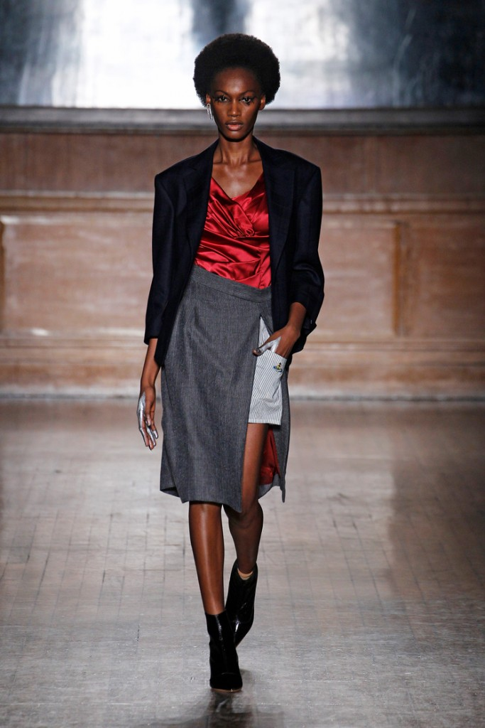 Red and grey V Westwood red label FW 16