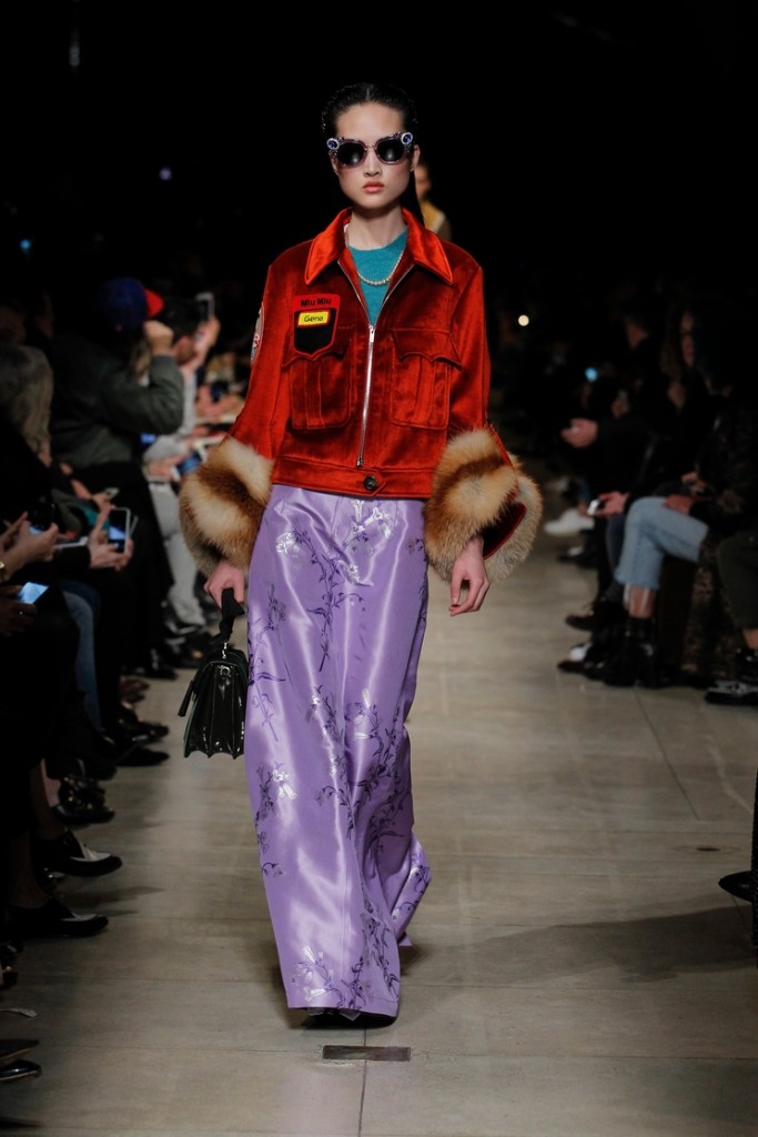 Red and lilac Miu Miu FW 2016