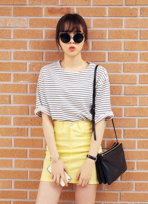 marinière jupe jaune