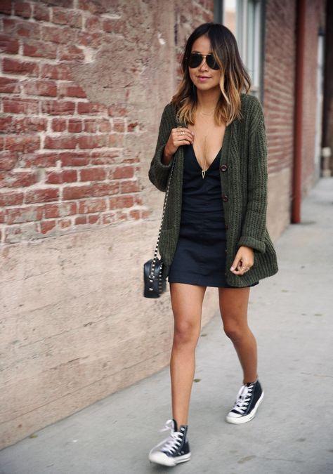 cardigan-sur-mini-robe