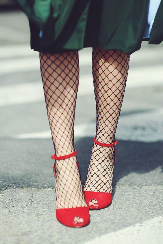 How To Wear Fishnet Tights Dress Like A Parisian